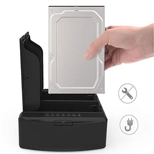 Behuizingen Extern, 2,5/3,5 inch SATA Externe harde schijf USB3.0 Offline Kopiëren Dubbele beugel Docking Station USB HDD Opslagondersteuning 16 TB Expansie Plug En Speel Gratis Tool