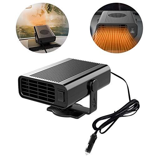 VDYXEW Calefactor para coche para descongelar el coche (12 V, 120 W), color negro