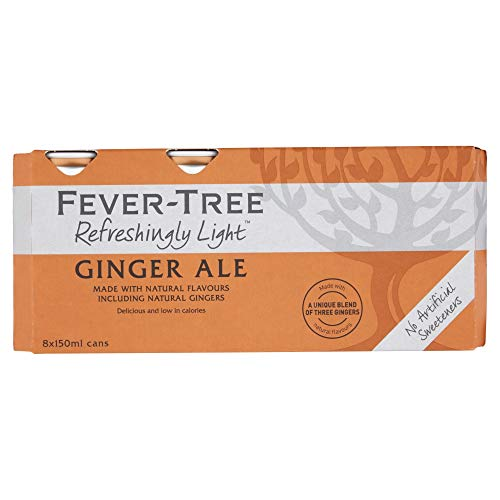 Fever-Tree Refreshingly Light Ginger Ale, 8 x 150ml