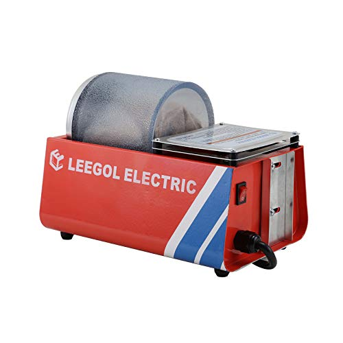 Leegol Electric Hobby Rock Tumbler Machine - Single Drum 3LBs Rotary Rock Polisher (Professional Single Barrel)
