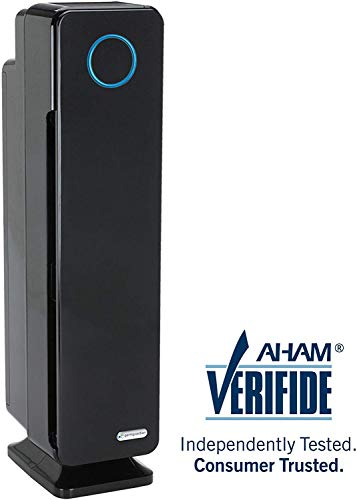 "GermGuardian AC5350B 28"" 3-in-1 Large Room Air Purifier,True HEPA Filter, UVC Sanitizer, Home Air Cleaner Traps Allergens, Smoke, Odors,Mold, Dust, Germs, Smokers, Pet Dander,Energy Star Germ Guardian"