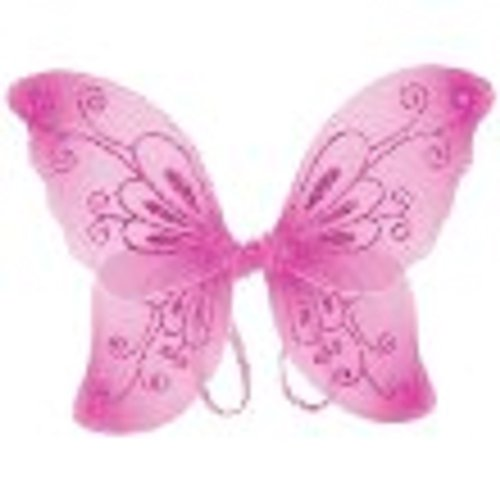 Girls Sparkling Fairy Wings (Pink, One Size) by Cutie Collection