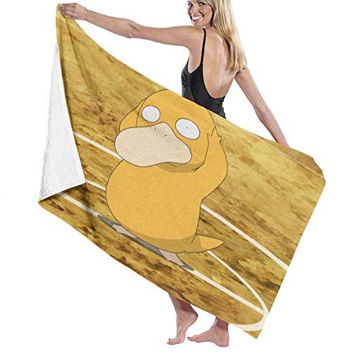 Custom made Pokemon Psyduck toallas de baño de microfibra 70x140 cm toalla de playa grande deportes toallas de camping accesorios