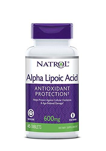 Natrol Alpha Lipoic Acid 600mt Time Release - 45 Compresse