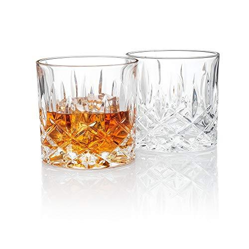 NDQ Bicchiere da Vino Whisky, Cristallo Spessa Senza Piombo Premium, Cocktail o Irish Lowball Vintage Whisky, Bicchiere per Bourbon, Whisky...