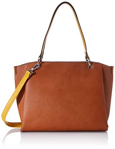 TOM TAILOR Shopper Damen, Braun, Alassio, 36x8x24,5 cm, Handtasche groß, Umhängetasche