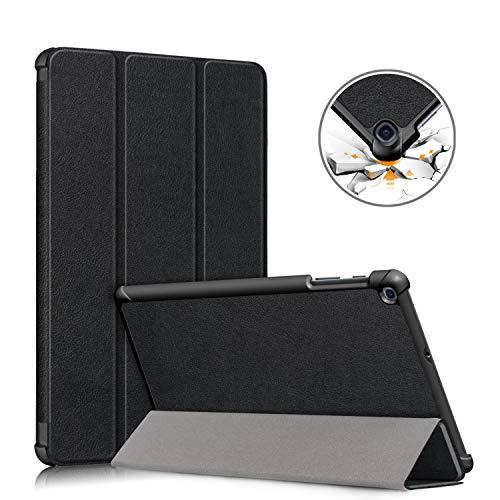 topCASE Funda para Samsung Galaxy Tab A 10.1 SM - T510/T515 2019,Ultra Delgada Funda con Función de Soporte Samsung Galaxy Tab A 10.1 Pulgadas SM-T510 T515 2019 Versión Carcasa,Negro
