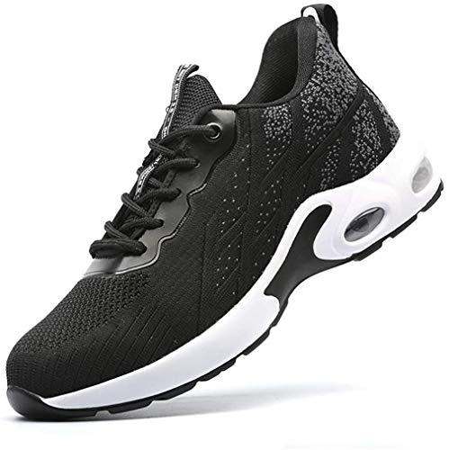 LBHH Zapatos de Trabajo Botas de Seguridad Zapatos de Seguridad Calzado de Seguridad Hombres Mujeres Zapatillas de Seguridad Ligeras con Puntera de Acero Perforadas,Ligeras,Resistentes y duraderas