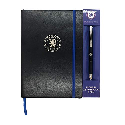 Chelsea FC Official Soccer Gift Executive Premium A5 Notebook & Pen