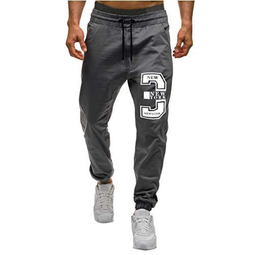 beautyjourney Pantalones Cargo Holgados para Hombre Pantalones Deportivos Casuales Pantalón Chino Ajustado de Tela Pantalones de Jogging Pantalones de Entrenamiento