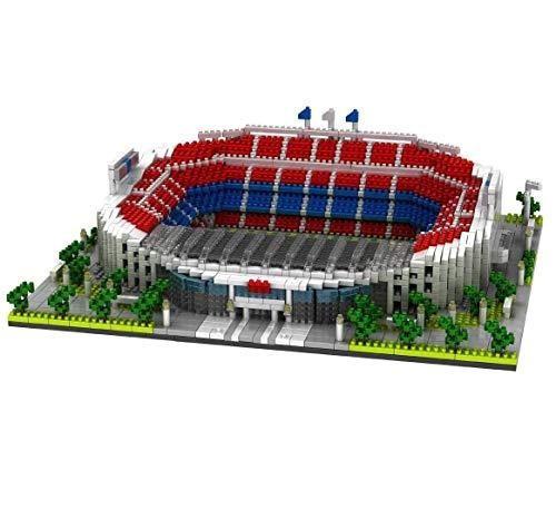 ZAT Regalos de niño Construcción Educación de Bricolaje Juguete Mundial de Fútbol Famoso Campo de la Serie 3800 pcs Nano Mini Kits Building Blocks (Camp NOU)