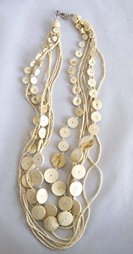 Collier long de perles de bois de 35 cm. Expédition gratuite 72H