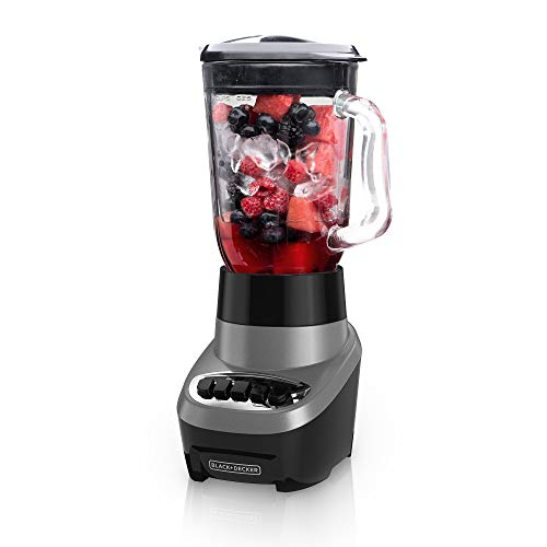 BLACK+DECKER Blender with 6 Cup Glass Jar - Silver BL1220SG