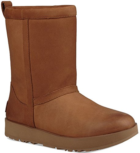 UGG Classic Short Leather Waterproof Laarzen Dames