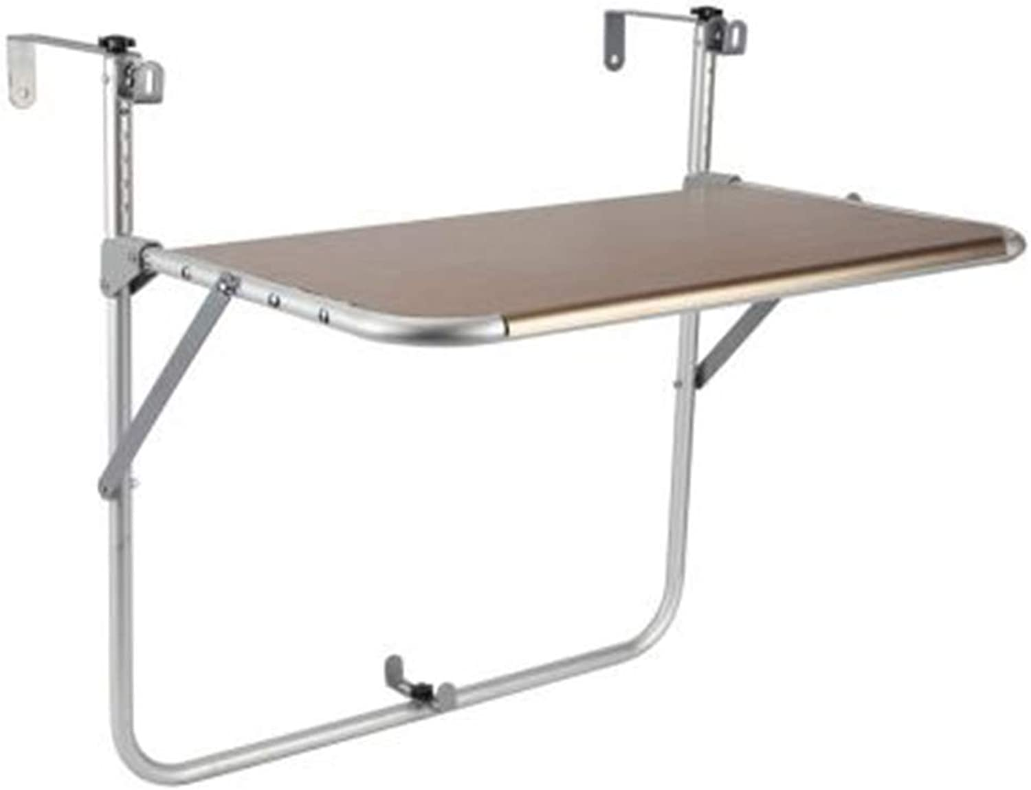 Coffee Table Folding Table Hanging Table Desktop Height Adjustable by 5 Positions Mobile Drying Rack Multifunction Leisure Storage Rack, Aluminum Alloy
