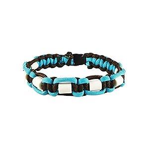 EM-Keramik Halsband für Hunde, mit Name möglich, verschiedene Größen wählbar, original EM-X-Keramik-Pipes, hellblau…