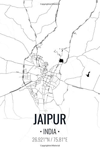 Jaipur India: City Map Graph Paper Composition Notebook for Math & Science Students, Writing Subject Memo Book Planner, 6x9 Inches, Graph Paper   100 Pages