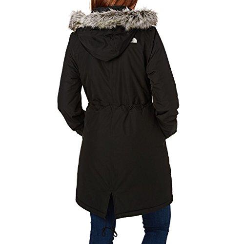 North Face Zaneck Parka - Chaqueta para Mujer, Negro (TNF Black/Vintage White), XS