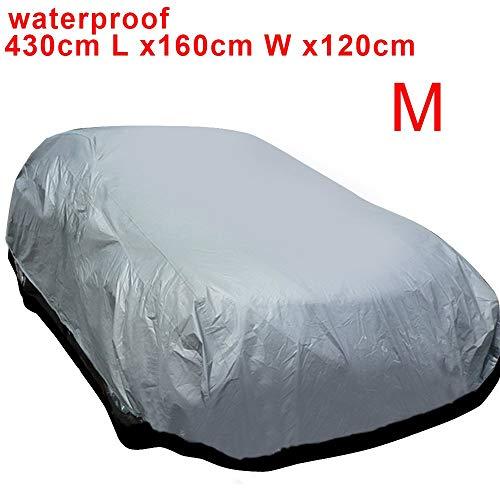 SeaStart - Funda de protección para Coche, Impermeable, Sol, Lluvia, UV, Exterior, Talla M: 430 x 160 x 120 cm