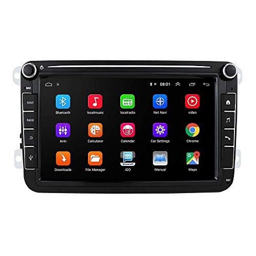 JIBO 8' Android 10 Doble Estruendo Auto Radio GPS Navegación por VW Amarok 2010-2013 Carro Cabeza Unidad Estéreo Multimedia Jugador Teléfono Control BT 4.0 WiFi SWC