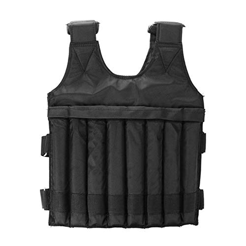 Shopps Max 20kg/44lbs Adjustable Weighted Vest, Convenient and flexible Breathable and durable, Fits Weight Vest for Running, Workout, Cardio, Weight Loss, Fitness