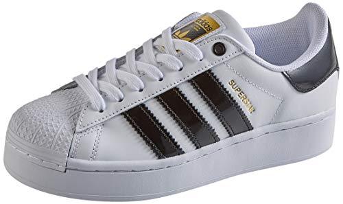 adidas Superstar Bold W, Scarpe da Ginnastica Donna, Ftwr White/Core Black/Gold Met, 40 2/3 EU