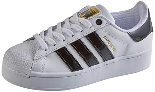 adidas Superstar Bold, Sneaker Mujer, Footwear White/Core Black/Gold Metallic, 38 2/3 EU