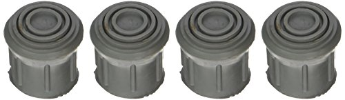 DMI Walker and Cane Replacement Tips for Stability, 1 Inch, Gray, 4 Count