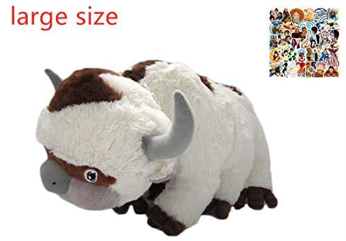 LYH2019 Avatar Last Airbender Appa Plüschtier Weiche Kuscheltiere Rinder- und Fledermausplüschpuppe Kinderspielzeug groß 50cm