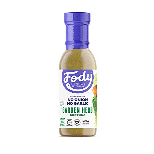 Fody Foods Vegan Garden Herb Salad Dressing | Low FODMAP Certified | Gut Friendly No Onion No Garlic | IBS Friendly Kitchen Staple | Gluten Free Lactose Free Non GMO