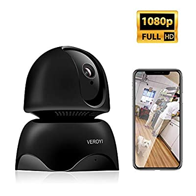 Veroyi Home Security Camera, 1080P Wireless WiFi IP Surveillance Camera with 2 Way Audio, Motion Detection, Night Vision for Baby Elder Pet Monitor
