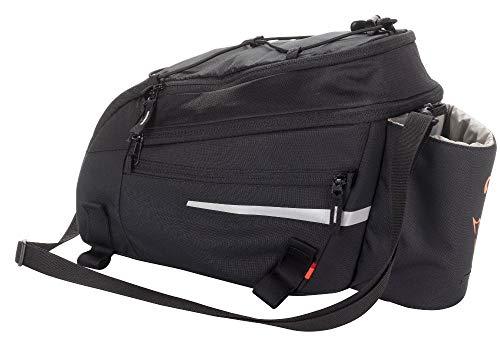 VAUDE Silkroad L Fahrradtasche Gepäckträgertasche 9+2l (Black SE, Einheitsgröße)