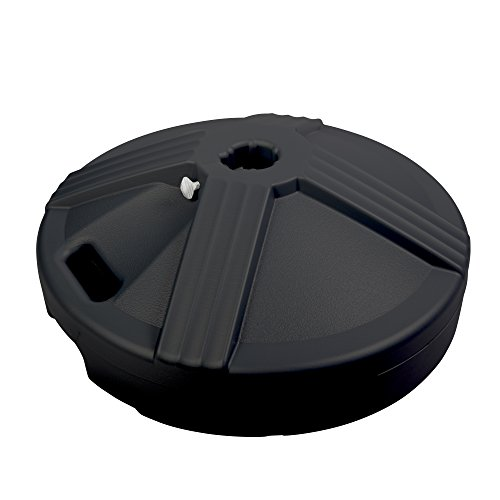 US Weight Durable 50 Pound Umbrella Base Designed to be Used with a Patio Table (Black)