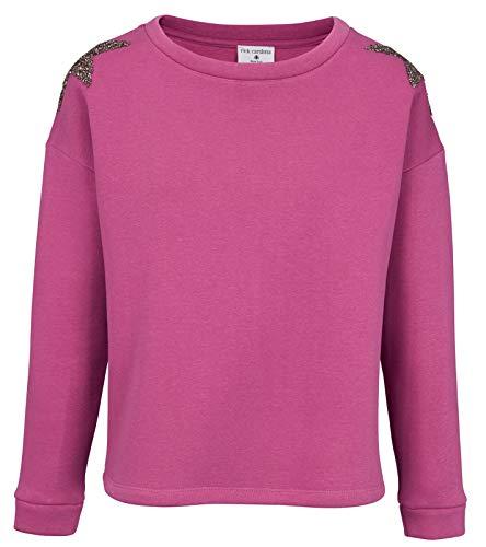 Heine Damen Sweatshirt mit Strasssteinen, pink, Größe:38