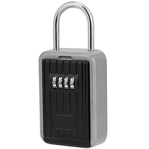 FREESOO Schlüsselkasten mit digitalem 4-stelligem Zahlencode für den Außenbereich, mit wasserdichter Key Sicherung, sichere Aufbewahrung für Innen Außen Haus Büro Garage Schule Gym