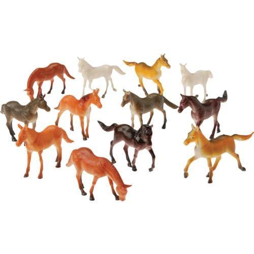 US Toy Mini Horses Action Figure (1 Dozen)