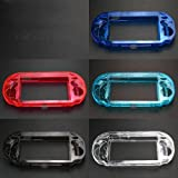 Niegamey Clear Hard Case Transparent Protective Cover Shell Replacement for Psv1000 Psvita PS Vita PSV 1000 (Blue)