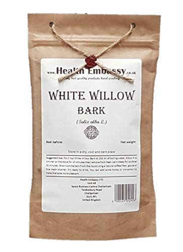 Health Embassy Weidenrinde Tee (Salix alba L. - Salicis Cortex) / White Willow Bark Tea, 50g