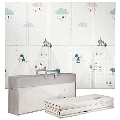 ONVAYA® Spielmatte für Babys & Kinder | Krabbelmatte faltbar | Bodenmatte für Kinderzimmer & Outdoor | Babymatte aus Schaumstoff | Spielteppich rutschfest | schadstofffrei (180 x 200 cm | Muster)