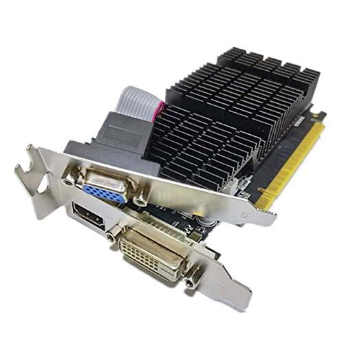 SovelyBoFan Scheda Immagine GT710 2 GB 64 Bit DDR3, Una Scheda Immagine per Piccoli Uffici con Dissipatore di Calore Silenzioso Supporta HDMI, VGA, DVI