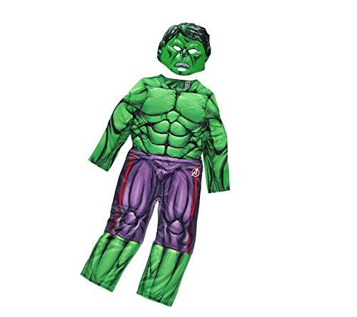 Muscolare Verde Maglietta hulkkostüm Halloween SHIRT HULK MARVEL AVENGERS FILM Costume