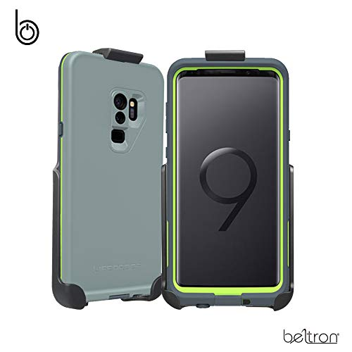 BELTRON Belt Clip Holster Compatible with LifeProof FRE Galaxy S9 Plus S9+ Case (case is not Included) Features: Secure Fit, Quick Release Latch, Durable Rotating Belt Clip & Built-in Kickstand