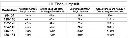 LIL'Finch 98B23 LFV2 Kinder Jumpsuit Jungen Mädchen Overall D.Grau Gr. 134-140 - 4