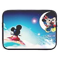 ラップトップスリーブフライングミッキーマウス防水ラップトップバッグ耐衝撃性コンピュータバッグ保護ラップトップケースバッグ用ノートパッド15インチ