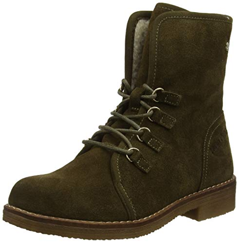 Hush Puppies Women's Ankle Boots, Green Khaki Khaki, 5