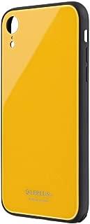 iPhone XR 背面ガラスシェルケース「SHELL GLASS」 イエロー