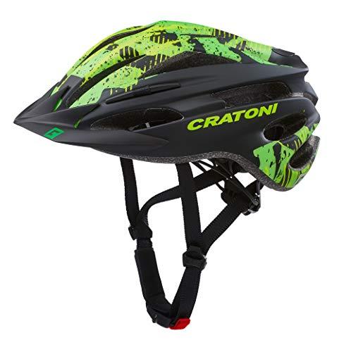 Cratoni Pacer Fahrradhelm MTB Allroundhelm (Black Lime, S-M (54-58 cm))