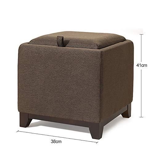 WOLF ES salontafel van massief hout Heces Living opbergkamer, creatieve multifunctionele schoenen van stof voor het wisselen van heces voor het opbergen