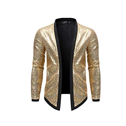 NOBRAND Chaqueta casual para hombre, para discoteca, baile, fiesta, chaqueta de punto