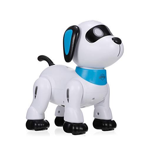 Goolsky K21 Elektronischer Roboter Hund Stunt Hund Fernbedienung Roboter Hundespielzeug Sprachsteuerung Programmierbare Touch-Sense Musik Tanzspielzeug für Kinder Geburtstag